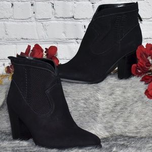 Perforated Suede Ankle Boots - Fretzia (Sz 8 1/2M)